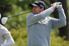 Kiwi golfer Mark Brown is leading the charge at the New Zealand Open at a sun-drenched Clearwater today. Photo / Getty Images.
