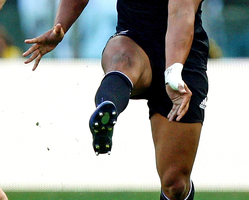 Faumuina has more potential in terms of mobility, ball-carrying and maybe scrummaging but is still susceptible to the odd off day. Photo / Getty Images