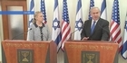 Watch: Clinton meets Netanyahu over Gaza conflict