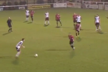 As far as free-kicks go, they don't get much worse than this. Photo / Youtube.