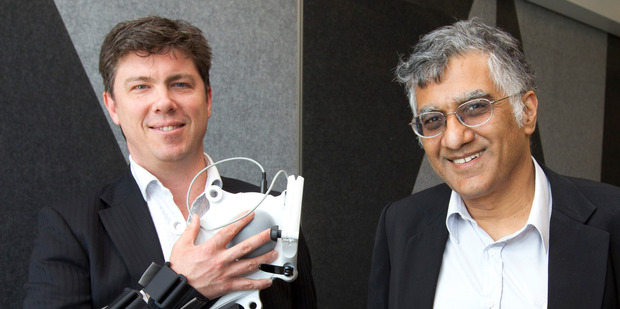 Elliott Kernohan (left) and Sunil Vather want to take IM-Able's intelligent rehabilitation technology to the world. Photo / Mark Mitchell