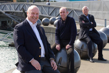 (From left) Syl Semantics chief executive Sean Wilson, chief technology officer Adrian John and chairman John Selby. Photo / Mark Mitchell
