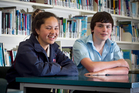 Students James Aylett and Paige Tapara of Rosehill College already have ideas about the careers they'd like to follow. Photo / Natalie Slade