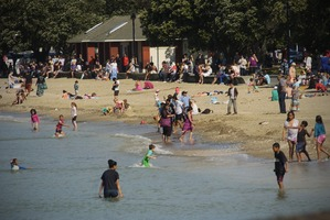 Beach-goers have returned to Mission Bay. Photo / Supplied