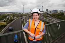 Anneliese Sabrowski maintains Auckland's motorway network. Photo / Kellie Blizard