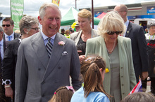 The Prince of Wales and Duchess of Cornwall. Photo / Mark Mitchell