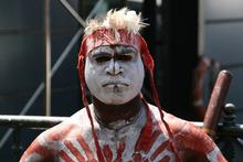 Aboriginal performer in Circular Quay, Sydney.  Photo / Supplied