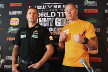 Danny Green,left, of Australia and Shane Cameron. Photo / Getty Images