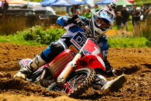 Ben Townley (Honda) is one of the favourites to win this year's annual Whakatane Summercross. Photo / Andy McGechan, BikesportNZ.com