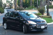 The Ford C-Max hybrid was economical when driving around LA and on freeways, but a TomTom satnav system was essential. Photo / Liz Dobson 