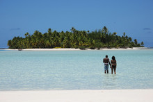 It takes evocative paint chart adjectives to name the blues of the water around Aitutaki. Photo / Pamela Wade
