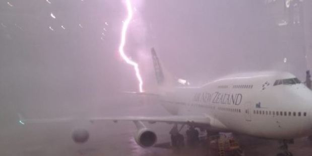 The plane still left as scheduled.  Photo / Supplied