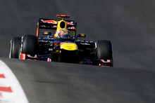 Red Bull driver Sebastian Vettel, of Germany, steers his car during the Formula One US Grand Prix auto race at the Circuit of the Americas Sunday. Photo / Eric Gay, AP