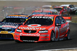Whincup never lets the pressure drop on the track but is not averse to some good-natured advice. Photo / EDGE photographics