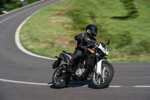 Husqvarna's 650 Strada, like the Terra, comes in a lower-power LAMS-approved version for learner riders. Pictures / Jacqui Madelin