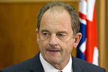 Labour Party leader David Shearer announcing their caucus vote outcome at a press conference at Parliament, Wellington today. Photo / Mark Mitchell
