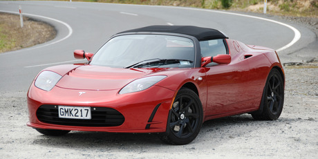 The electric Tesla Roadster exerts plenty of G-force - so satisfying. Photo / Jacqui Madelin