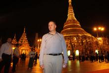 Prime Minister John Key during his visit to the Shwedagon Pagoda in Yangon, Burma. Photo / Alan Gibson