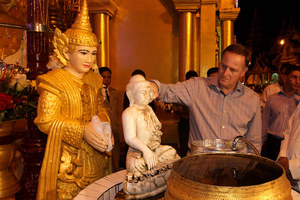 John Key recently visited Burma. Photo / Alan Gibson