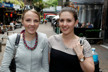 Rebekah Luker, left, and Jessica Tappenden urge people to be sceptical about big prize promotions. Photo / Michael Craig