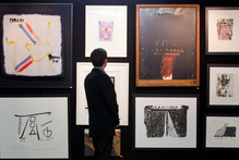 A large collection of Hotere art work is up for Auction at the International Art Centre in Parnell, Auckland today. Photo / Greg Bowker