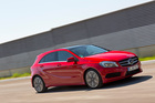 The funky new A-Class Merc hatch will help lead the sales drive in NZ. Photo / Supplied