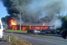 It is believed the blaze began at the Waitomo pub when a deep fryer caught fire.  Photo / Zara Hammond