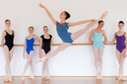Genee ballet candidates from Mount Eden Ballet Academy (L to R) Molly Pragert, Kaena Ahern, Natalie Welch, Ariana Hond, Katie Hobson-Brown and Olivia James-Baird. Photo / Greg Bowker