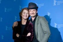 Barnaby Southcombe with his mother Charlotte Rampling. Photo / AP