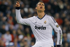 Cristiano Ronaldo's huge salary remains a sticking point with Real faithful. Photo / AP