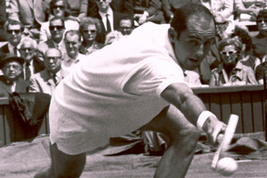In this 1965 file photo Bob Hewitt competes during a tennis match at Wimbledon, England. Photo / AP