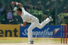 Trent Boult's left-armers caused problems for Sri Lanka's classy batting line-up. Photo / AP