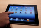 A new Apple iPad is on display during an Apple event in San Francisco. Photo / AP