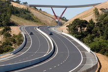 Auckland's Northern Gateway toll road. Photo / Paul Estcourt