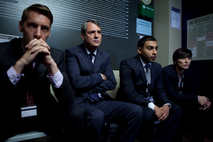 The line-up from Line of Duty, SoHo's new premier police show. Photo / Supplied