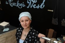 Susan Wardell at The Cuckoo's Nest in George St. Photo / Otago Daily Times