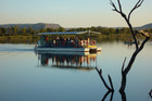 People arrive by boat on the Ord River, Kununurra. Photo / Supplied