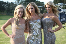 Playmates (from left) Heather Knox, Tiffany Toth and Jessa Hinton flew in for a Hallensteins promotion.Photo / File