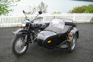 The Ural is said to be the world's last commercially availabale motorcycle and sidecar outfit. Photo / Paul Charman