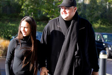Megaupload founder Kim Dotcom and his wife Mona Dotcom. Photo / Sarah Ivey