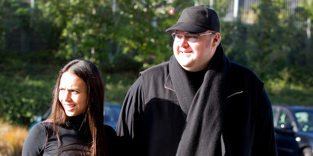 Megaupload founder Kim Dotcom and his wife Mona Dotcom. Photo / Sarah Ivey