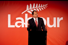 Labour leader David Shearer addresses party members during his speech at the Labour Party conference. Photo / Dean Purcell