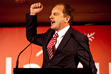 David Shearer was on form at Labour's conference. Photo / Dean Purcell