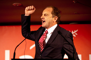Labour leader David Shearer address party members during his speech at the Labour Party conference. Photo / Dean Purcell