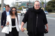 Kim Dotcom and his wife Mona. Photo / Mark Mitchell