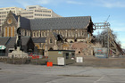The earthquake damaged Christ Church Cathedral. Photo / Geoff Sloan