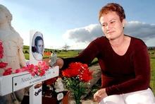 Kathy Sturm at the Kauae Cemetery where her murdered daughter Nikki is buried. File photo / Kelvin Teixeira