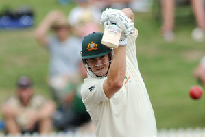 Michael Clarke, Australian skipper on allegations of a falling out with deputy Shane Watson (above). Photo / NZPA