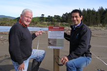 Riversdale local Bill Roberts and regional council officer Scott Ihaka will be looking out for Wairarapa's rarest birds this summer. Photo / Wairarapa Times-Age