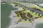 Just under 7ha of park land will be created next to the SH20 motorway at Onehunga in the next two years. Photo / Supplied